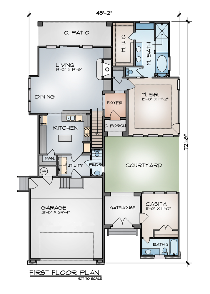 craftsman house plans with walk in pantry
