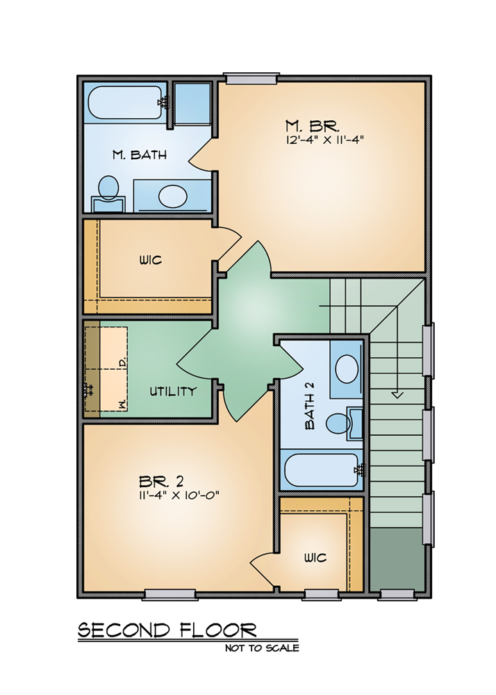 The Foster 8209 2 Bedrooms And 2 Baths The House Designers
