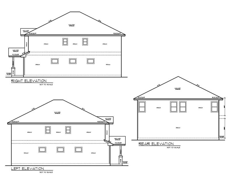 Duplex house plan with 2 car tandem garage for 4 car tandem garage house plans