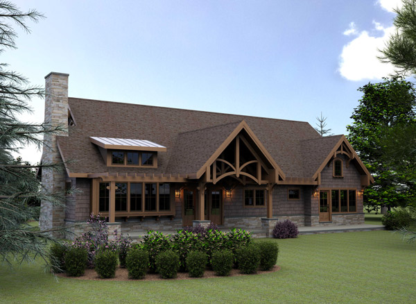 Mountain cottage house plans floor plans Timber frame cottage plans