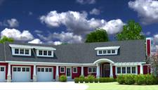 image of The Red Cottage with Executive Suite House Plan