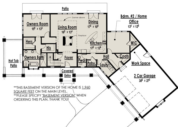 Basement Version image of Award Winning Craftsman House Plan
