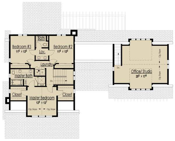 Second Level Floor Plan image of Bungalow House Plan
