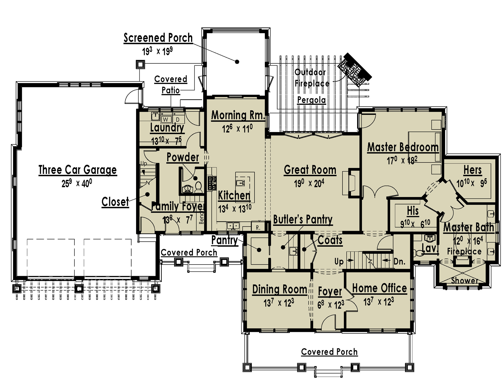 TWO MASTER SUITES HOME PLANS