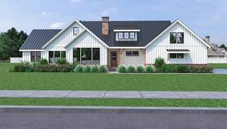 image of Cont. Farmhouse 822 House Plan