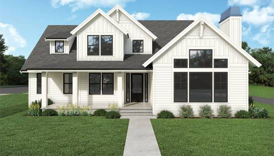 image of contemporary farmhouse 854 House Plan