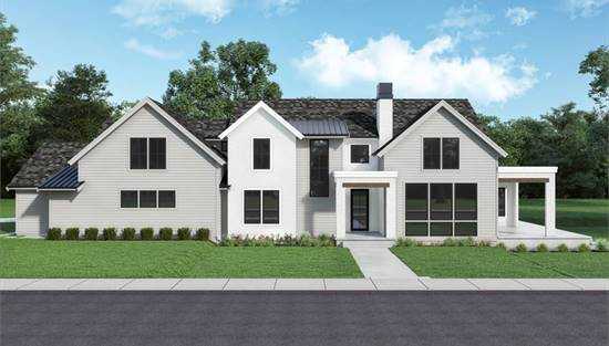 image of Contemporary Farmhouse 855 House Plan
