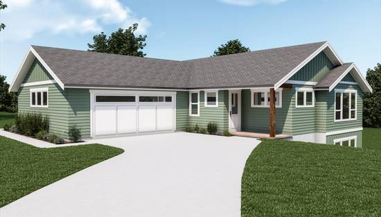image of Craftsman 394 House Plan