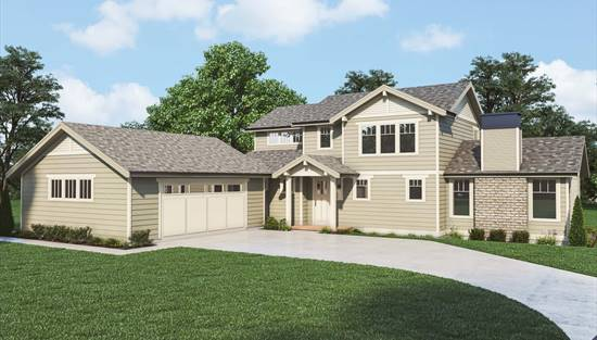 image of Craftsman 395 House Plan
