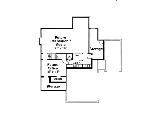 Lower Level image of ORLEANS II House Plan