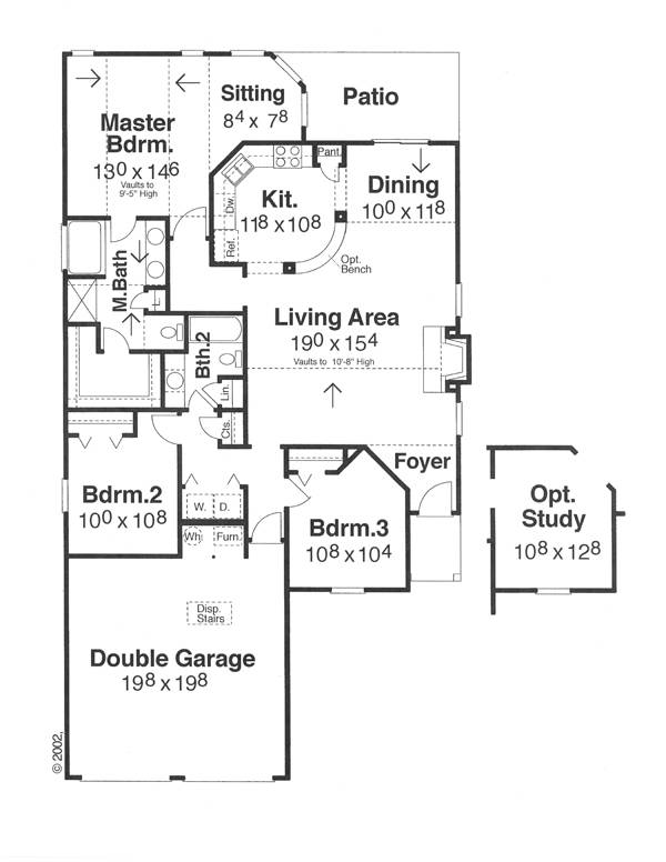 Floor Plan image of Callaway House Plan