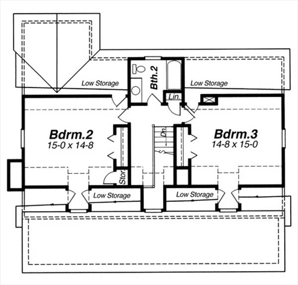 Classic home plan with open living and dining