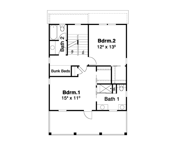 Hemingway 6267 - 2 Bedrooms and 2 Baths | The House Designers