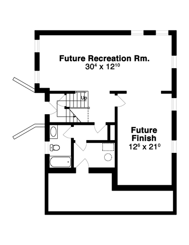 Lower Level image of GATSBY House Plan