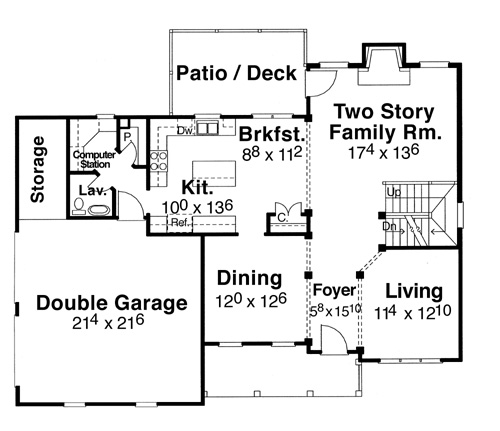 Magnolia 5848 4 bedrooms and 2 baths the house designers for Magnolia house plans