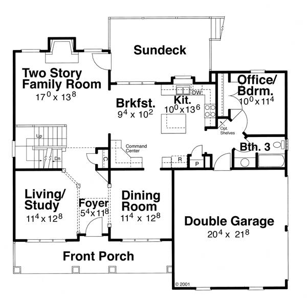 First Floor image of HATHAWAY House Plan