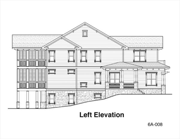 Left Elevation Plan : Keaton bedrooms and baths the house designers