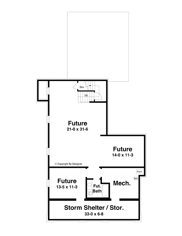 Lower Level image of INGLEWOOD House Plan