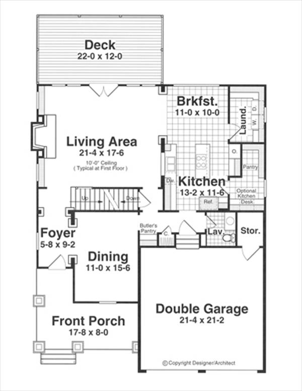 First Floor image of DAUGHTRY II House Plan