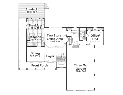 First Floor image of MCINTOSH II House Plan