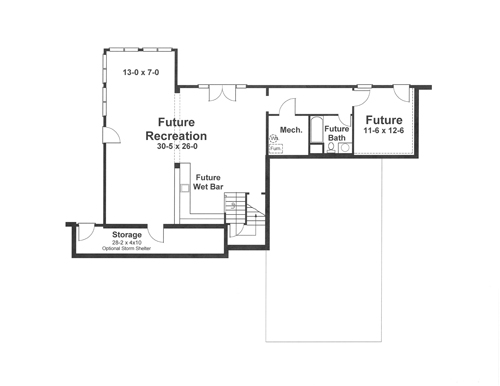 Lower Level image of MCINTOSH II House Plan