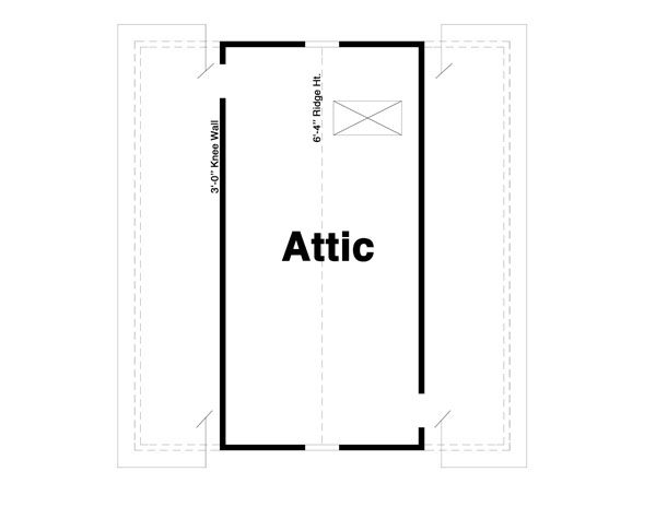 Attic image of GRANGER III House Plan