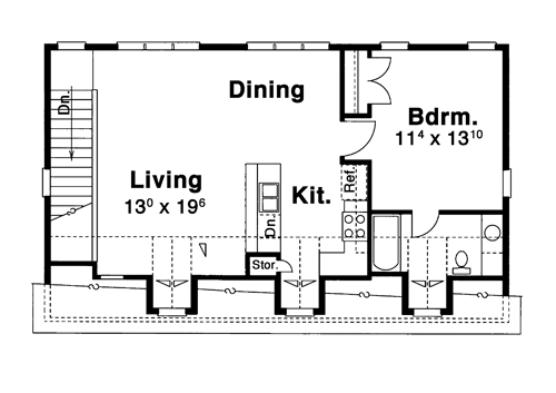 Garage Apt. image of HANSON IV House Plan
