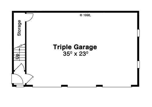 First Floor image of HANSON IV House Plan
