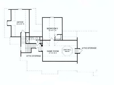 Second Floor Plan image of Deer Run House Plan