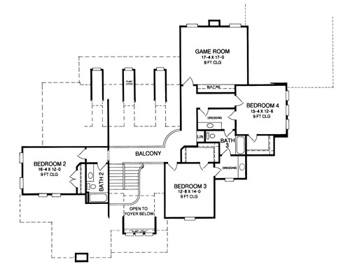 Days Rest   Bedrooms and Baths   The House DesignersSecond Floor Plan