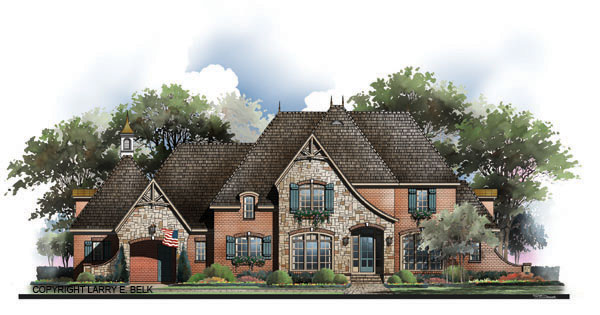 Brittany 8361 4 bedrooms and 4 baths the house designers for French country house plans with porte cochere