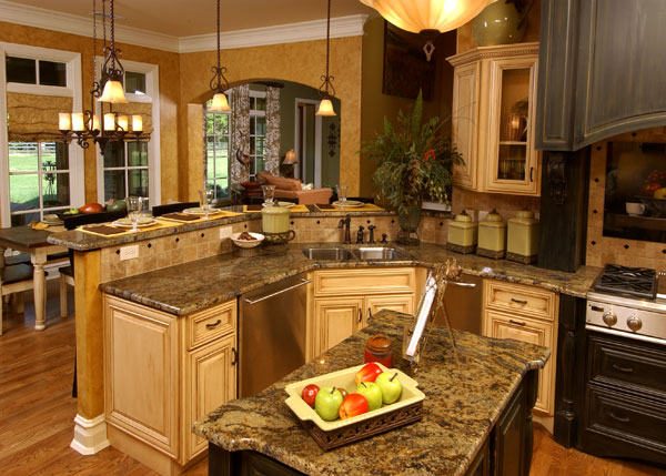 House plans with gorgeous kitchen islands the house designers - Home plans with large kitchens ...