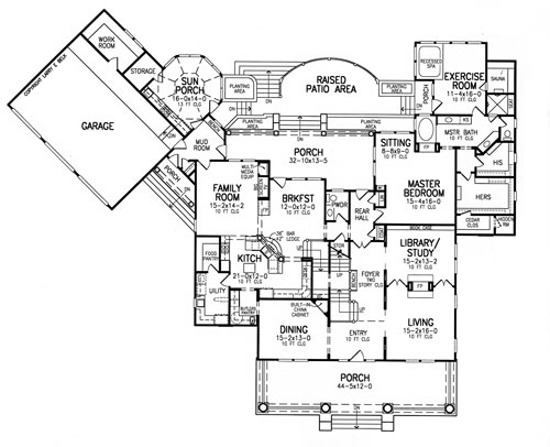 First Floor Plan image of Sarasota House Plan