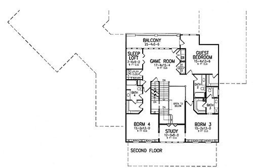 Second Floor Plan image of Sarasota House Plan