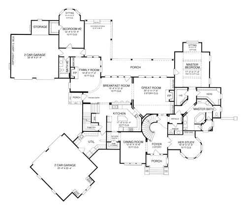Faudroy manor 8381 5 bedrooms and 4 baths the house Manor house floor plan