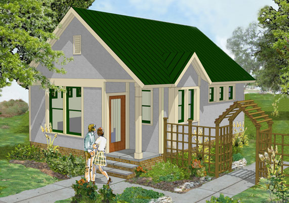 Tiny cottage house plan for Cottage style roof design