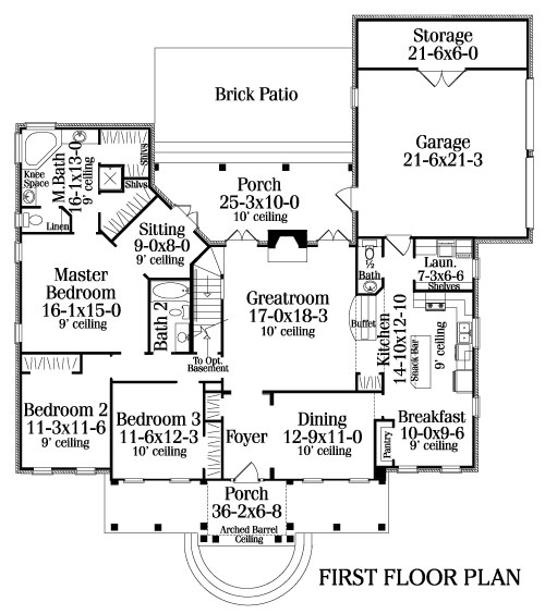 0009_M  Story Home Plans With Front Porch on 1 story home plans with porch, 2 story home plans with portico, 2 story home plans with pool, 3 car garage plans with porch, 2 story home plans with cupola,