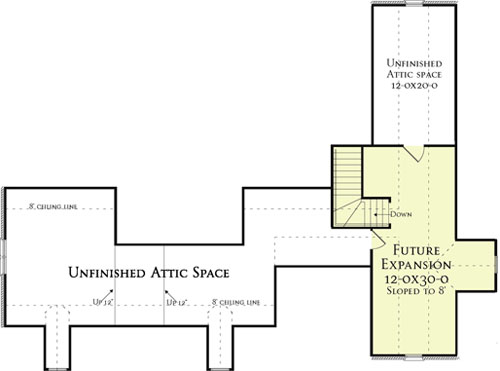 Second Floor Plan image of Southborough Cottage House Plan House Plan