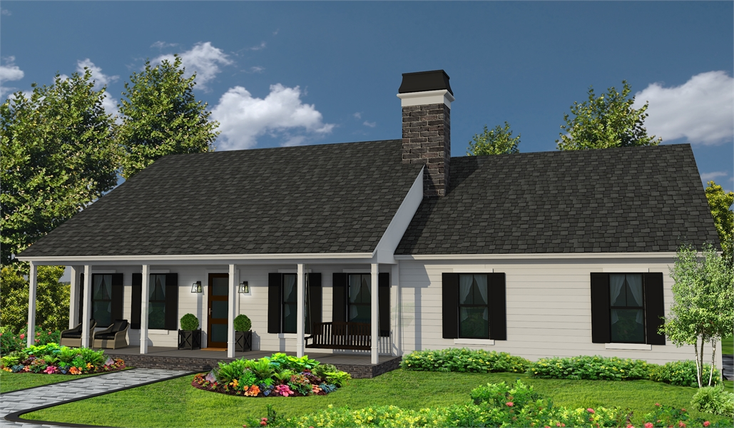 One Story Ranch Style House Plan 4309 Southern Trace