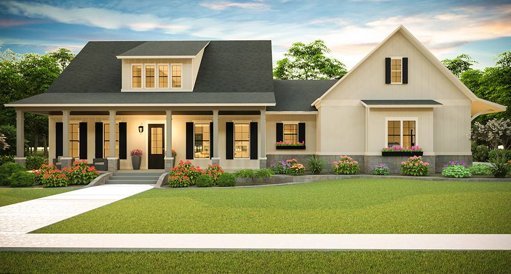 Farmhouse Style House Plan 6967: The White House