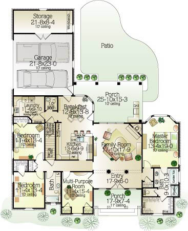 Gracie 7647 3 Bedrooms And 2 Baths The House Designers