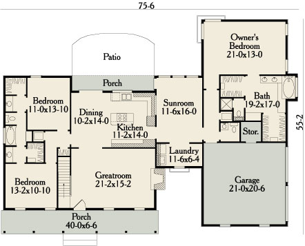garrison 3458 3 bedrooms and 2 baths the house designers colonial garrison style house 24x32 garrison colonial