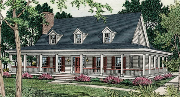 WRAPAROUND PORCH HOUSE PLANS Floor Plans