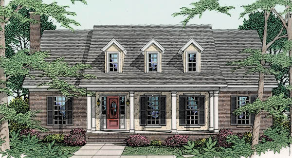 Hillcrest 3546 3 bedrooms and 2 5 baths the house for 4 bedroom cape cod house plans