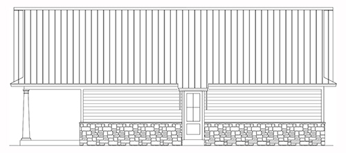 The Bearden Garage Rear Elevation