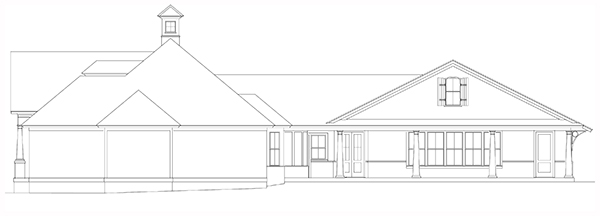 The Bearden Right Side Elevation