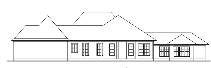 The Blanchard House - Right Side Elevation