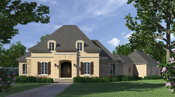 One story home design with high ceilings for 10 foot ceiling house plans