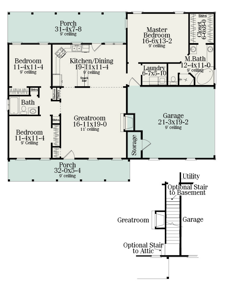floor plan - Small Ranch House Plans