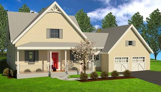 image of Silver Lining ICF Farmhouse House Plan